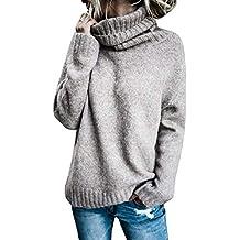 BOLAWOO Sudaderas Mujer Otoño Invierno Elegante Pullover Irregular Cuello  Alto Mode De Marca Manga Largo Anchos 2c44bcf966e9