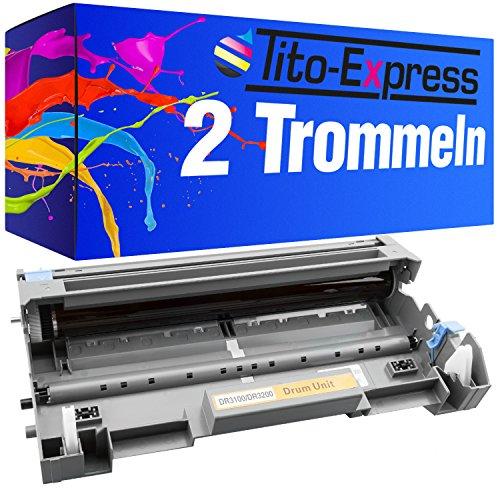 2x Trommel Drum XXL Schwarz kompatibel für Brother DR3200 MFC-8380DN MFC-8880DN MFC-8890DW HL-5370 HL-5340D PlatinumSerie