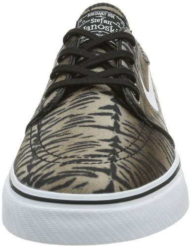 Nike Zoom Stefan Janoski Canvas, Chaussures de Skateboard Homme Mehrfarbig (Black/White/Medium Olive)