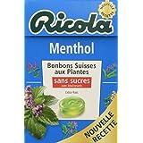 Ricola Bonbons Suisses aux Plantes Menthol sans Sucres 50 g