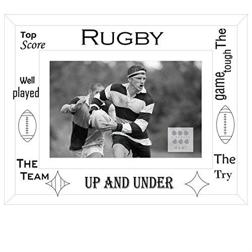 2-licht Abgeschrägten Glas ('Sixtrees Moments Rugby Bilderrahmen, Glas, weiß)