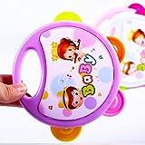 Diseño Divertido 1 Pieza Los niños recién Nacidos Comodidad Juguete Pandereta Rompecabezas Música Agarre Agitar Sonajero Bebé Juguete (Al Azar)