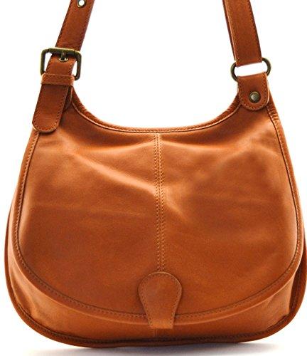 OH MY BAG Handtasche aus leder, damen, umhängetaschen Modell M HELLCOGNAC