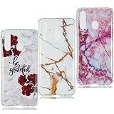 YKTO Coque Samsung Galaxy A60 Belle Marble Coque Souple[3 Packs] Clair 3D Dessins...