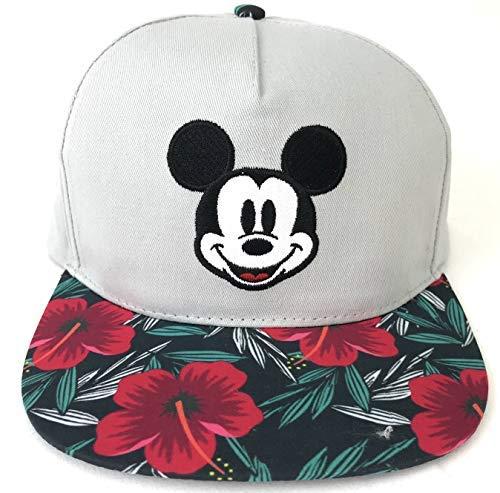 Disney Micky Maus Hibiskus Blumen-Baseballmütze für Erwachsene, Grau (Männer Von Mäusen)