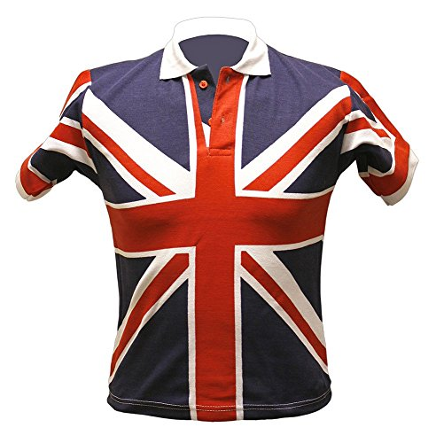 Herren Union Jack Tops – Wahl von Stil Weiß - Red White & Blue