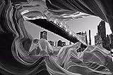 LONGYUCHEN Benutzerdefinierte 3D Wandbild Tapete Landschaft Steinmauer Stadt Nachtansicht Geeignet Für Café Schlafzimmer Hotel Wohnzimmer Wohnkultur Seide Wandbild,250Cm(H)×360Cm(W)
