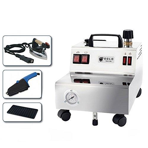 EOLO GV05: professionelle Dampfbügelstation mit Bügeleisen und Dampfbürste 5 Bar Trockendampf und 2,4 Liter Behälter
