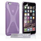Yousave Accessories Silikon-Schutzhülle für iPhone 6Plus, lila