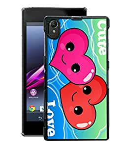 Crazymonk Premium Digital Printed 3D Back Cover For Sony Xperia Z1