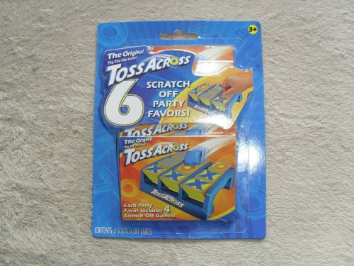 Toss Across Scratch Off Party Favors - Pack of 6