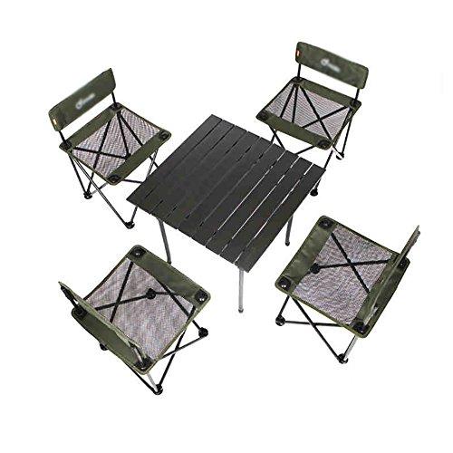 ZCJB Table Pliante Extérieure Et Chaise Set Tables Et Chaises De Pique-Nique Portables Chaises Quatre Et Une Table Wild Conduite Voiture Tables Et Chaises Barbecue