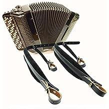 Musik Erste bequemer, gepolsterter echtes Leder Akkordeon Gurt Instrumente Schultergurt Akkordeon Leder Schulterriemen