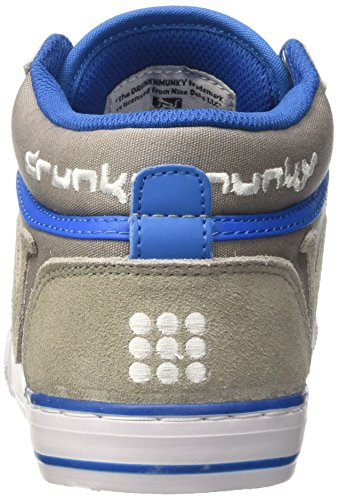 DrunknMunky Boston Classic Mid, Chaussures de Tennis homme Grigio (Dark Grey/Royal)