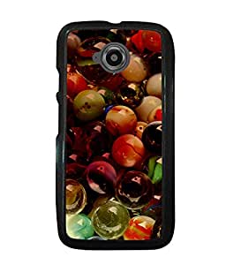 PrintVisa Metal Printed Glass Balls Designer Back Case Cover for Motorola Moto E2-D5100