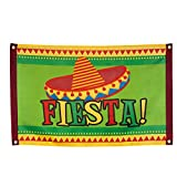 PARTY DISCOUNT NEU Fahne Fiesta, 60 x 90cm, bunt