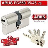 ABUS EC550 Profil-Doppelzylinder Länge 35/45mm mit 5 Schlüssel