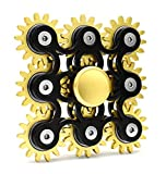 Edler Fidget Spinner 9 Zahnräder aus Metall lange Drehzeit bis 5 min + Metallbox Hand Toy Finger...