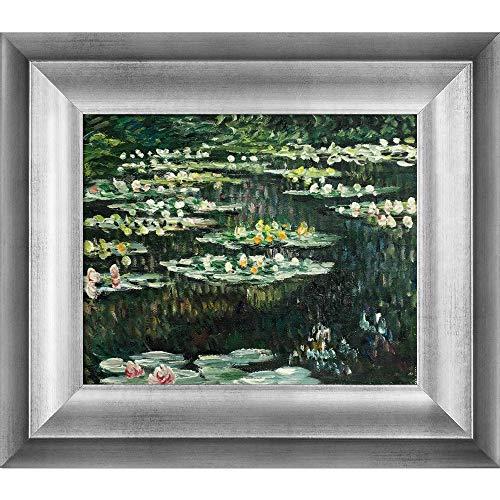 Handgemaltes Reproduktion von Claude Monet Seerosen II gerahmtes Ölgemälde, 8x 10 - Monet 8x10