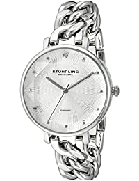 Stuhrling Original Women's Quartz Watch with Silver Dial Analogue Display and Silver Stainless Steel Bracelet 596.01