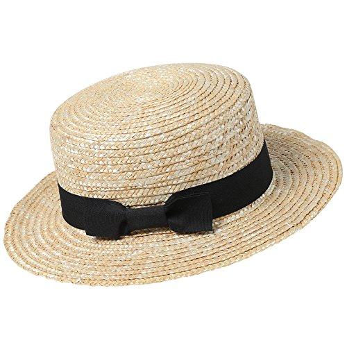 ArtiDeco Panama Hut Fedora Trilby Bogart Hut Herren Storhhut 1920 Stil Mafia Gangster Gatsby Kostüm Accessoires (Schwarz)