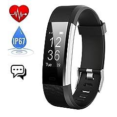 Idea Regalo - Fitness Tracker Cardiofrequenzimetro,Orologio Fitness Contapassi Activity Tracker Impermeabile IP67 Smartband Bracciale Braccialetto Pedometro da Polso GPS Smart Watch per Uomo Donna Android e iOS