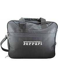 7fc5cc9e66f5 Official Licensed Ferrari Black Laptop Messenger Flight Travel Bag