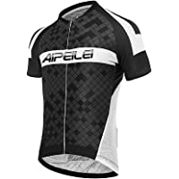 AIPEILEI Men's Cycling Jersey Short Sleeve Breathable Mountain Bike Top Cycling Clothing for Men