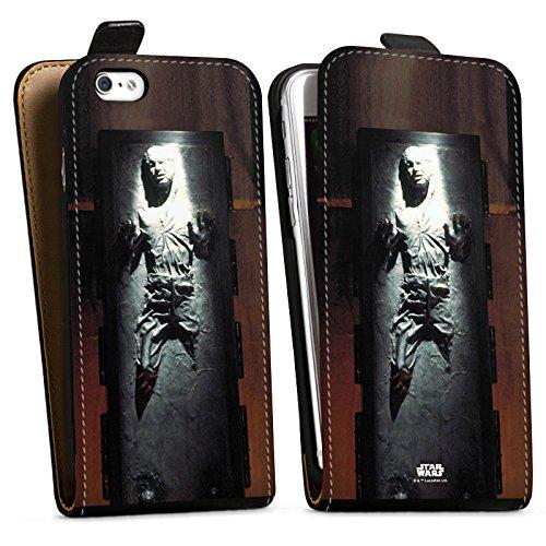 Apple iPhone 8 Hülle Premium Case Cover Star Wars Merchandise Fanartikel Han Solo frozen Downflip Tasche schwarz