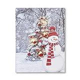 NIKKY HOME Natale LED Canvas Prints Decorazioni da parete Pupazzo di neve luminosa Stampe d'arte Christmas