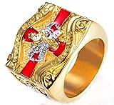 XCXZM Diamante Mason Corona Croce Cavalieri Templari Anelli dell'Acciaio Inossidabile per la Mens