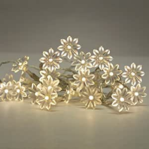MiniSun - Battery Operated 20 Warm White Decorative LED Daisy Flower Fairy String Lights
