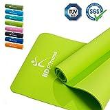 HD Fitness® Tappetino da ginnastica / EXTRA spesso e morbido, ideale per yoga pilates, Allenamento di ginnastica / dimensioni: 180 x 61 spessore 0,8mm / light green
