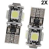 2x T10 Ampoules LED W5W 5 SMD 5050 Canbus SANS ERREUR, occasion d'occasion  Livré partout en Belgique