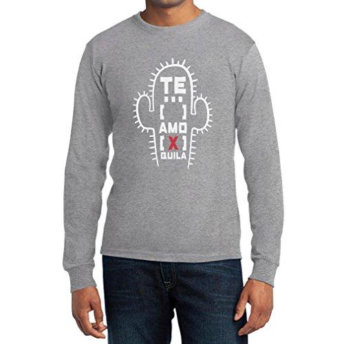 Motiv mit Liebeserklärung an Tequila - Te Amo Tequila Langarm T-Shirt Grau