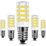 KINDEEP E14 rosca Edison pequeña bombillas LED, 5W / 400LM, equivalente a una bombilla halógena de 40 W), 360 grados ángulo de haz Omni Directional, CRI > 80 (5X, Blanco frío)
