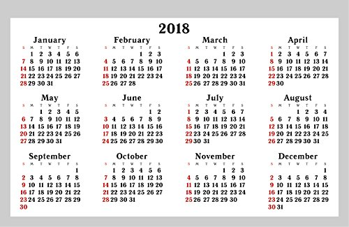 2018 one month to view uk stand alone desk office table calendar planner by arpa
