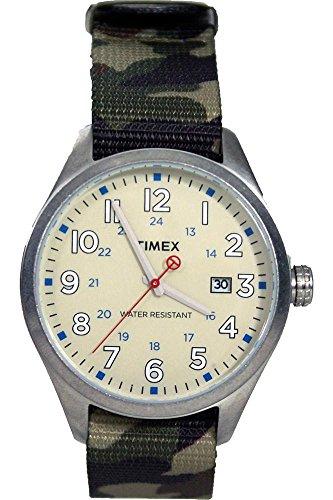 Timex Orologio Analogico al Quarzo Unisex con Cinturino in Nylon T2N309D