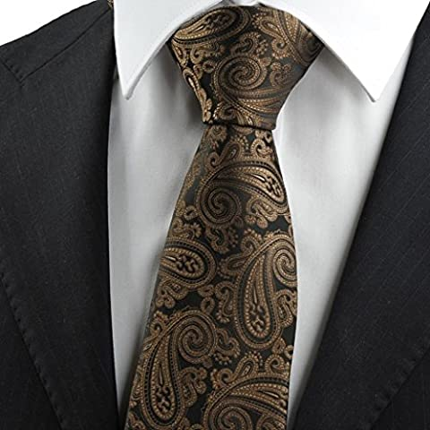 New Brown Paisley Exotic JACQUARD Men's Tie Necktie Wedding Holiday Gift KT0120