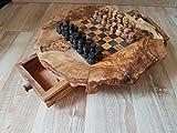 Lubolosity Schach Schachbrett Schachspiel Schachtisch aus Olivenholz Neu mit Figuren !!!!!