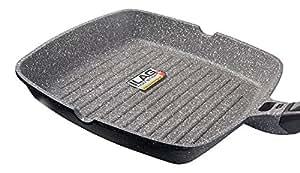 28 cm 100 pfoa freie grillpfanne premium grill pfanne mit abnehmbarem griff. Black Bedroom Furniture Sets. Home Design Ideas