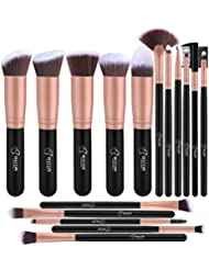 Makeup Brushes BESTOPE Makeup Brush Set Professional 16-Piece Make Up Brushes Premium Synthetic Foundation Brush Blending Face Powder Blush Concealers Eye Cosmetics Make Up Brush Kits