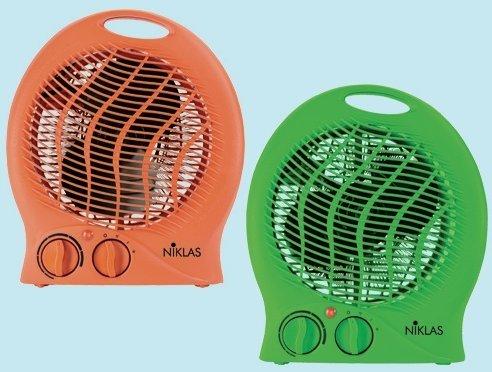 Fraschetti 539024 Interior Verde 2000W Calentador eléctrico de ventilador - Calefactor (Calentador eléctrico de ventilador, Interior, Escritorio, Piso, Mesa, Verde, Giratorio, 2000 W)