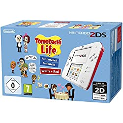 Nintendo 2DS - Konsole (weiß + rot) inkl. Tomodachi Life (vorinstalliert) - [Edizione: Germania]