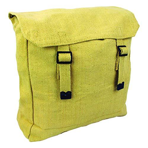 mpftasche im Militär-Stil aus Leinen, Rucksack, beige ()