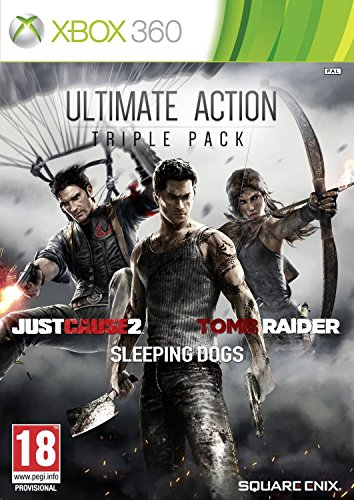 Ultimate Action Pack: Tomb Raider, Sleeping Dogs and Just Cause 2 (Xbox 360)