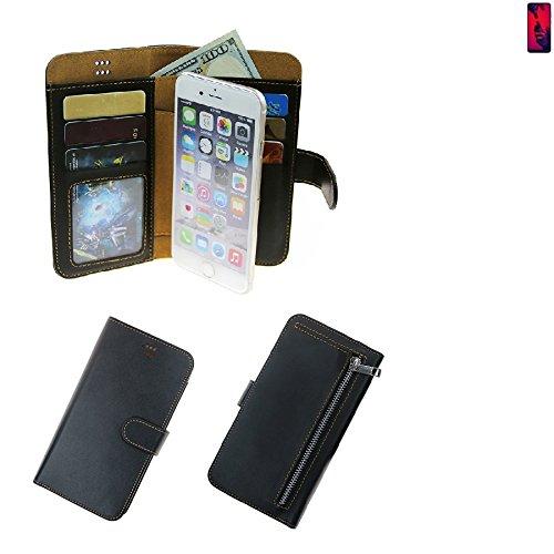 K-S-Trade Huawei P20 Pro Dual-SIM Schutz Hülle Portemonnaie Case Phone Cover Slim Klapphülle Handytasche Schutzhülle Handyhülle schwarz aus Kunstleder (1 STK)