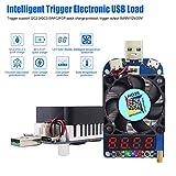 Innovateking-EU Probador electrónico de Carga Módulo de Resistencia del Tester de Carga USB Disparador QC2.0 QC3.0 35W 0.25-5A HD35 con Ventilador de refrigeración Inteligente Actual Constante