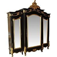 Comparador de precios Casa-Padrino Baroque Luxury Wardrobe Black/Gold W 200 x H 220 cm Bedroom Closet - precios baratos