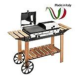 Barbecue Ferraboli Ghisa Gas Legno INOX Art.049